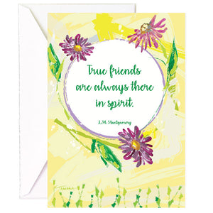 True Friends Are There In Spirit - Single Card