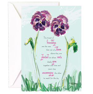 Friendship Pansies - Single Card