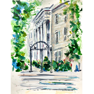 Limited Edition Matted Print - UGA Arch