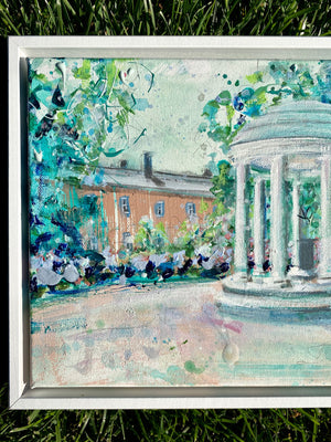 "Framed UNC Old Well | 9"" x 12"""