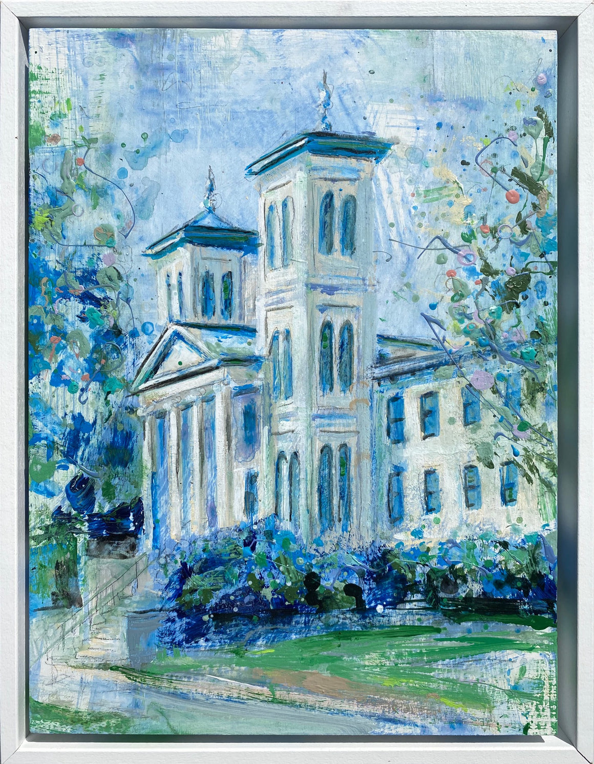 "Framed Wofford Old Main | 9"" x 12"""