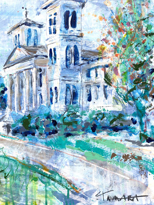 "Wofford Old Main in the Fall | 18"" x 18"""