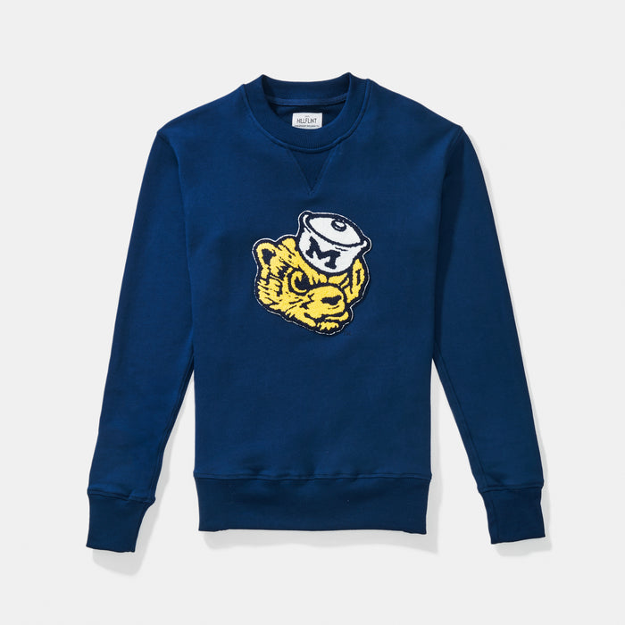 University of Michigan | Vintage Mascot Sweatshirt | Michigan Wolverines Apparel