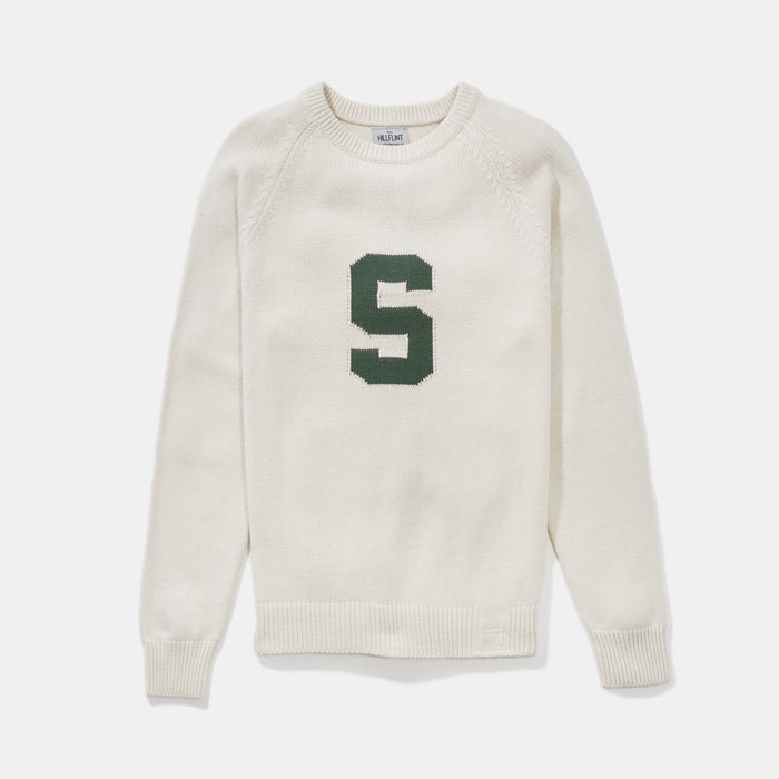 Michigan State Letter Sweater (Creme)