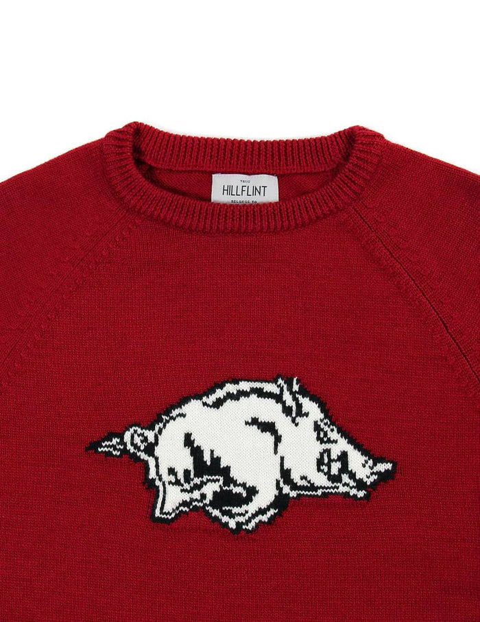 Merino Arkansas Crewneck Mascot Sweater