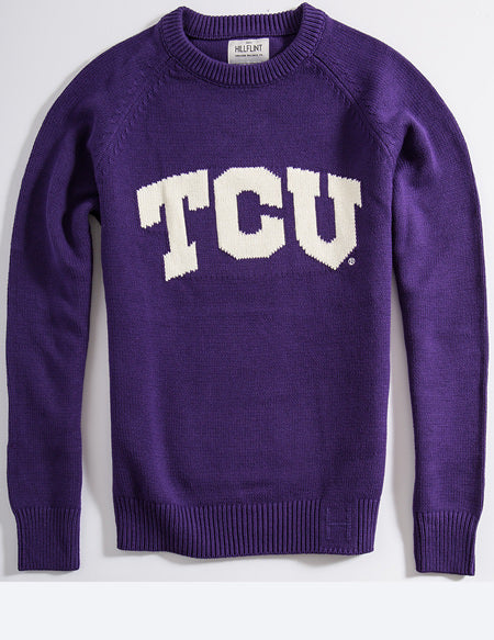 TCU Letter Sweater