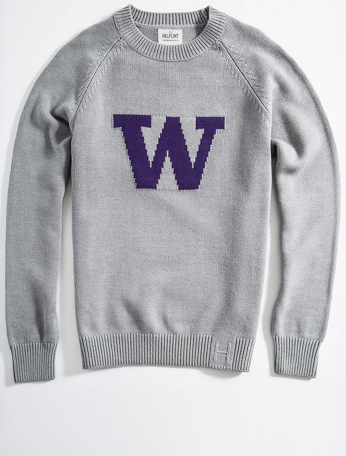 Merino Washington Letter Sweater