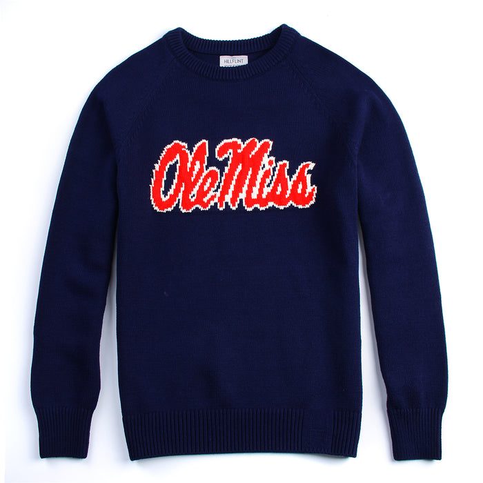 Cotton Ole Miss School Sweater