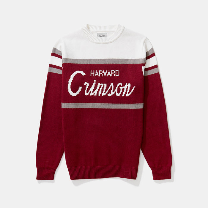 Harvard Tailgating Sweater (Gray Stripes)