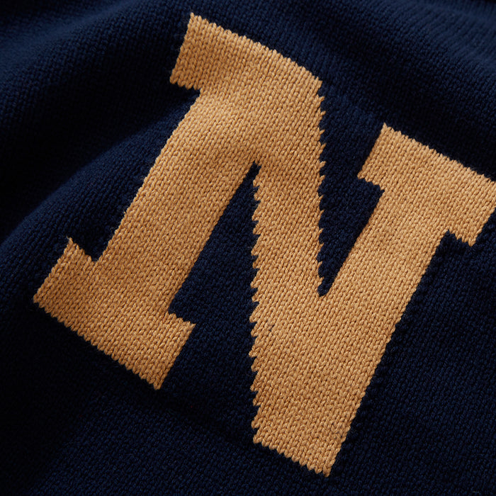 Navy Victory Letter Sweater