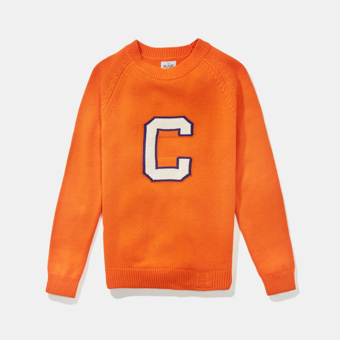 Women's Clemson Letter Sweater