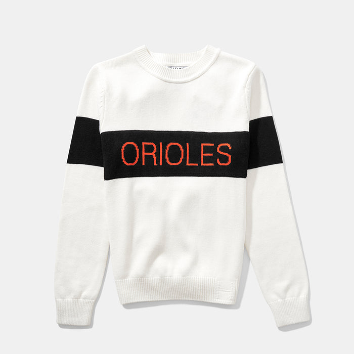 Women's Baltimore Orioles Retro Stripe Sweater