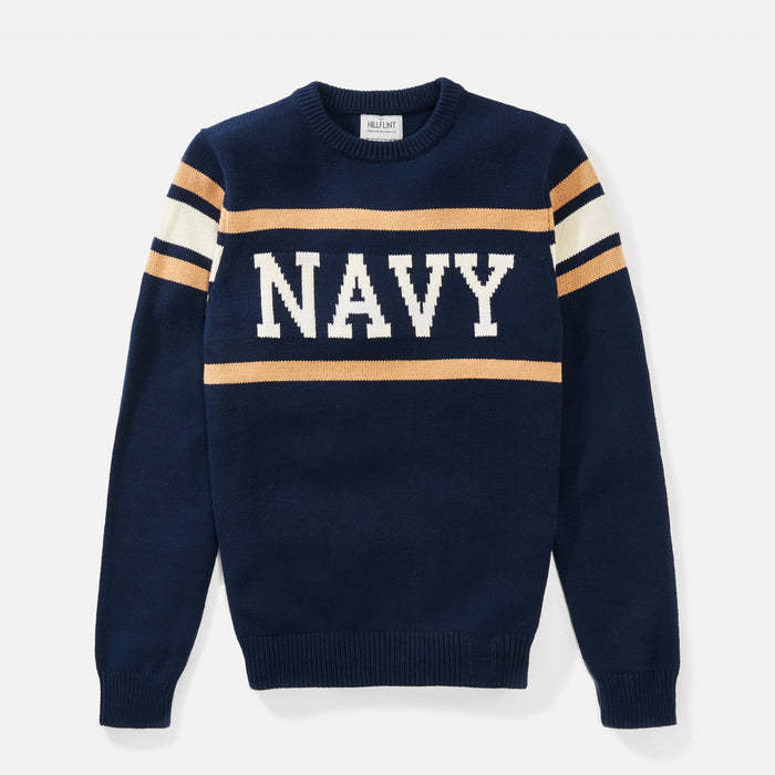 Navy Retro Stadium Sweater
