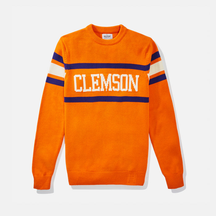 Women's Clemson Orange Retro Stadium Sweater
