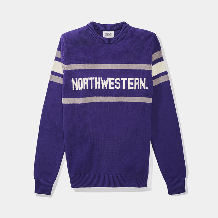 Northwestern Retro Stadium Sweater