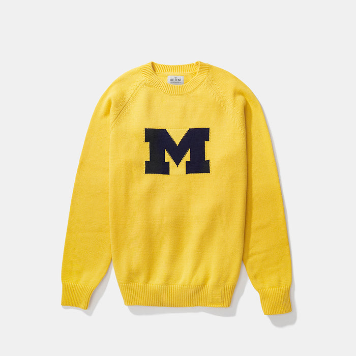 University of Michigan | Letter Sweater (Maize) | Michigan Wolverines Apparel