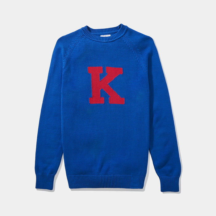 Kansas Vintage Letter Sweater