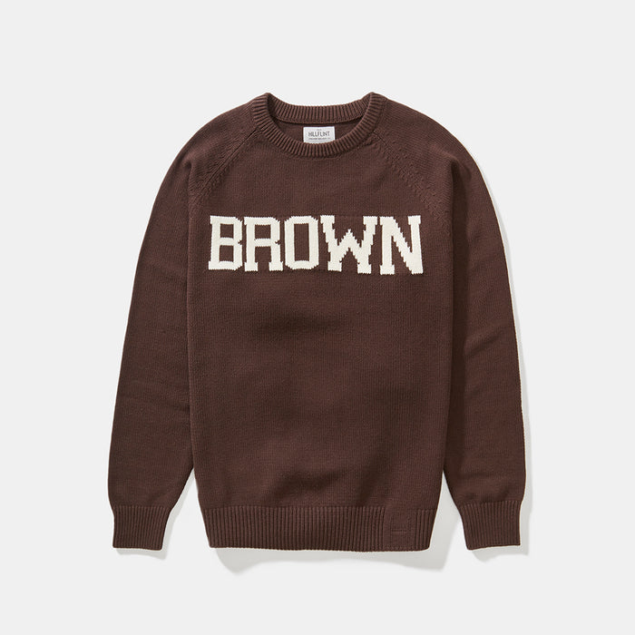 Cotton Brown School Sweater