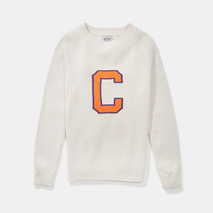Women's Clemson Letter Sweater (Creme)