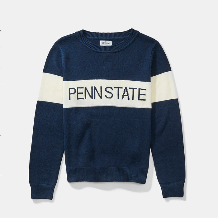 Women's Penn State Retro Stripe Sweater (Navy)