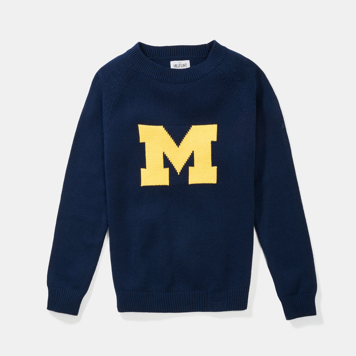 University of Michigan | Letter Sweater (Merino) | Michigan Wolverines Apparel