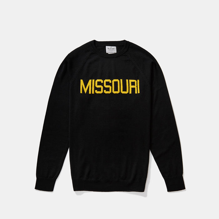Merino Missouri School Sweater (Black)