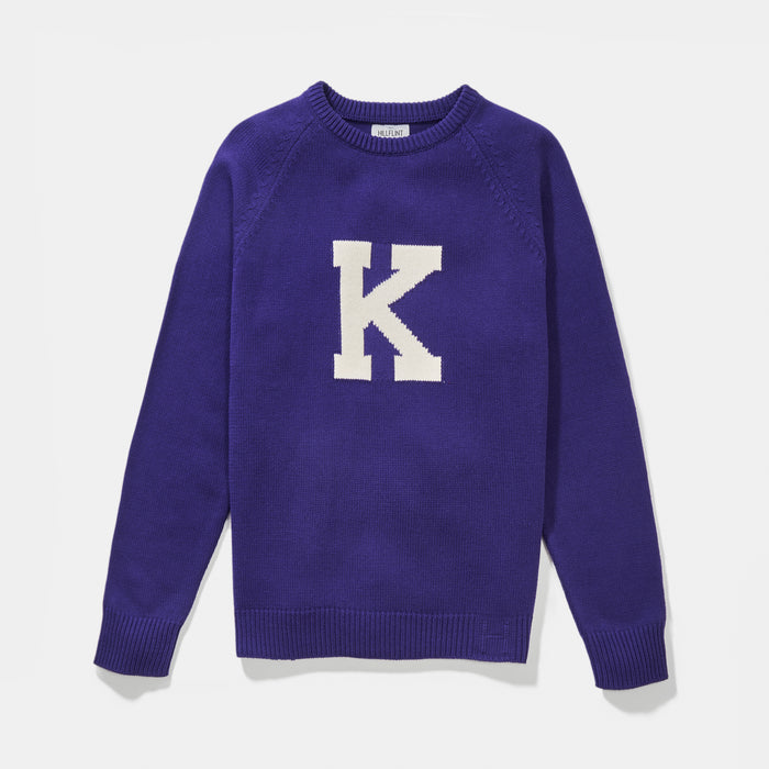 Blend Kenyon Letter Sweater (Purple)