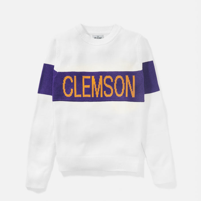 Women's Clemson Retro Stripe Sweater