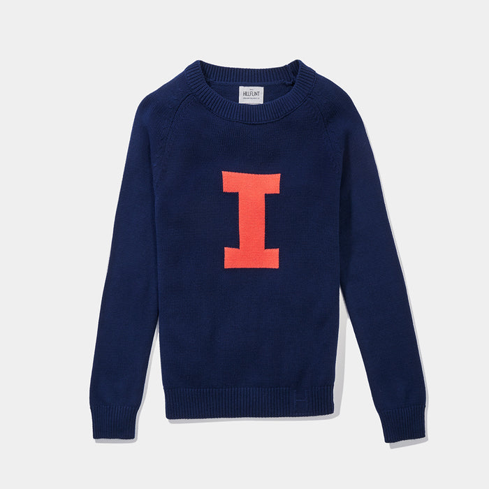 Merino Illinois Letter Sweater