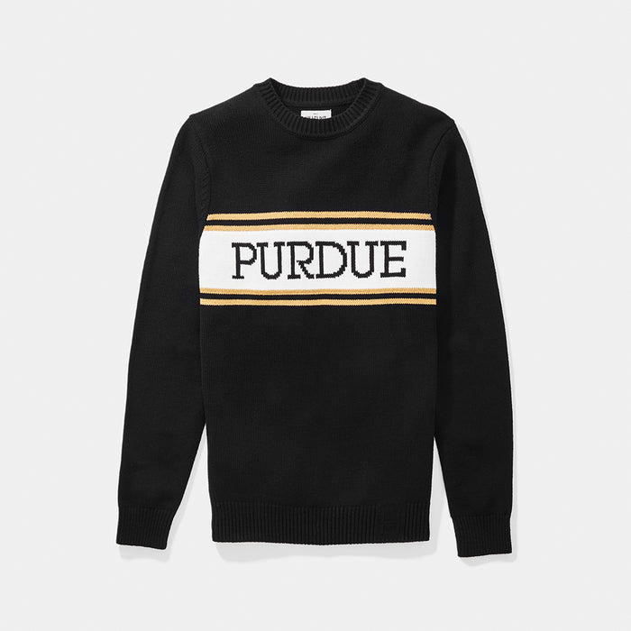Purdue Varsity Stripe Sweater