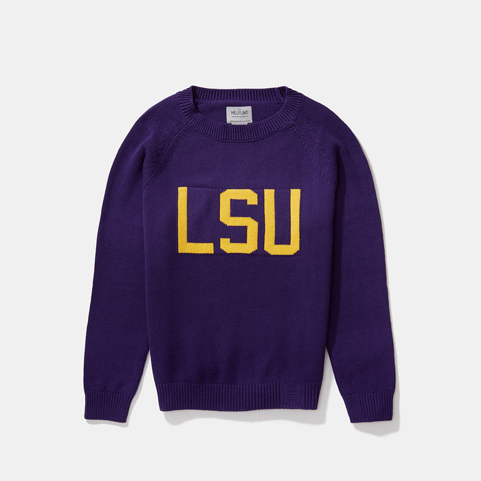 Women's Cotton LSU School Sweater