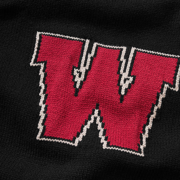 Wesleyan Letter Sweater (Black)