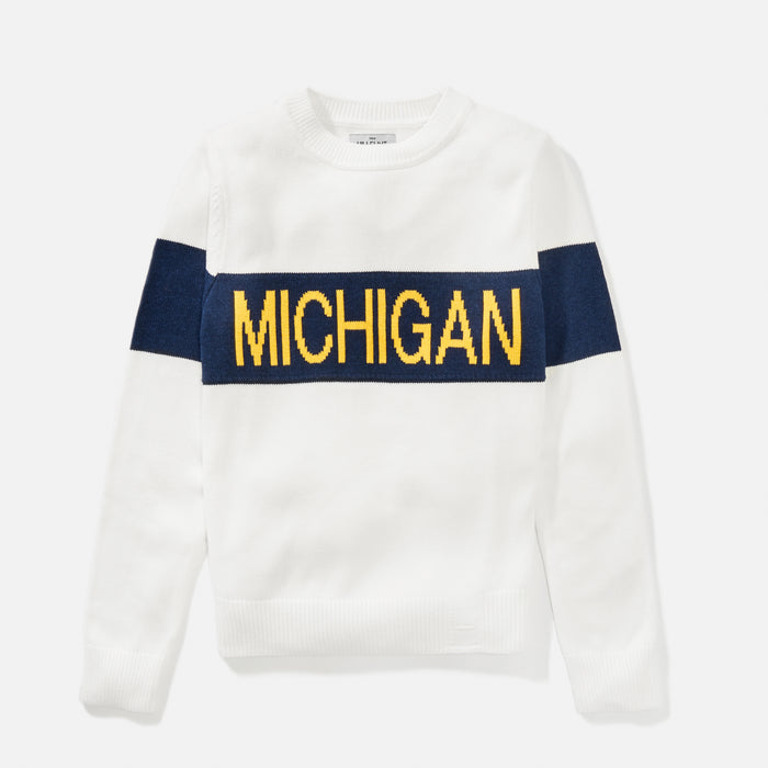 University of Michigan | Women's Retro Stripe Sweater | Michigan Wolverines Apparel