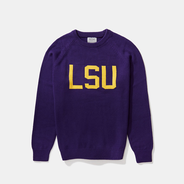 LSU Letter Sweater