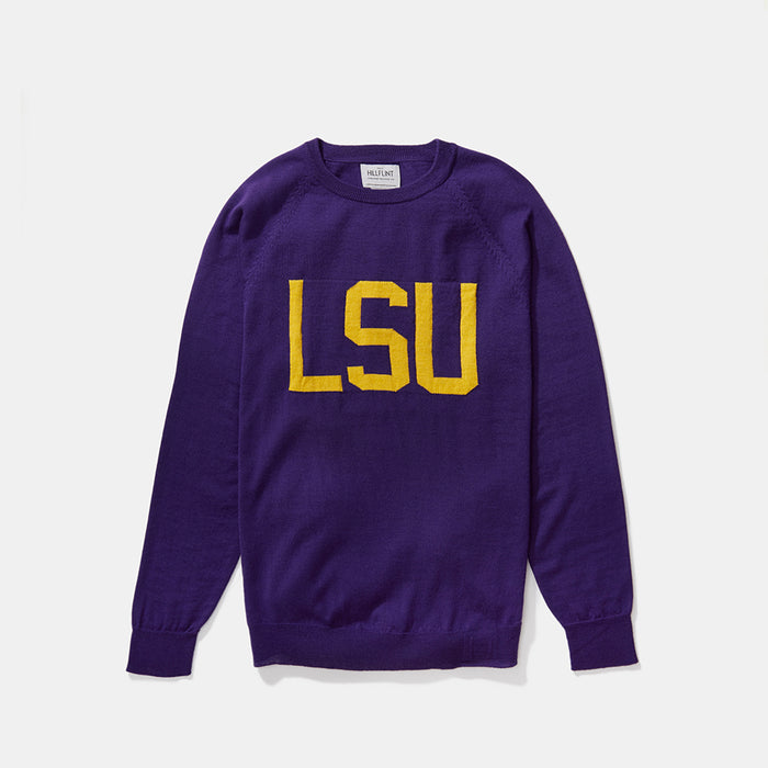Merino LSU Letter Sweater