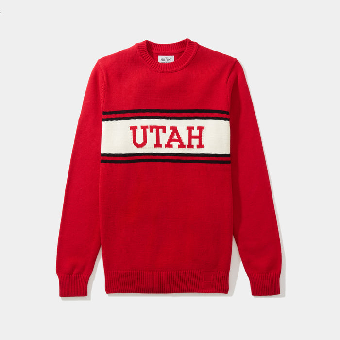 Utah Varsity Stripe Sweater
