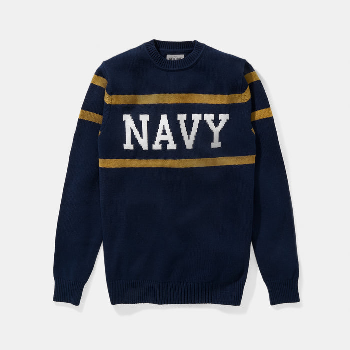 Navy Stadium Sweater
