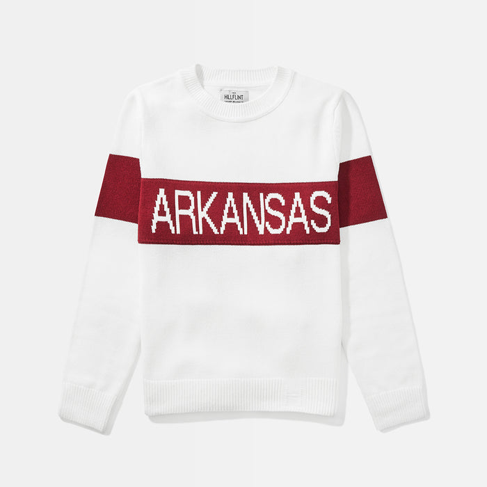 Women's Arkansas Retro Stripe Sweater