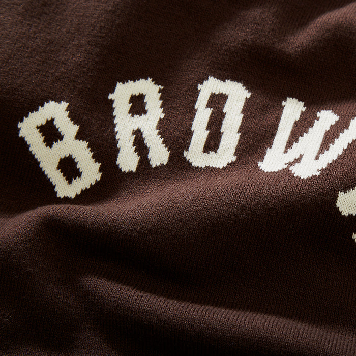 Brown Arch Sweater