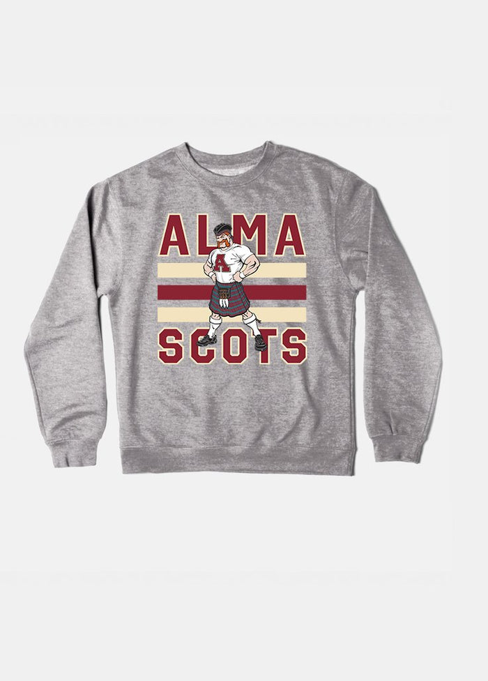 Alma Vintage Triple Stripe Crewneck (Grey)