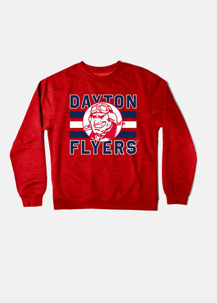 Dayton Vintage Triple Stripe Crewneck (Red)
