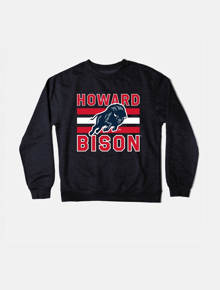 Howard Vintage Triple Stripe Crewneck Sweatshirt