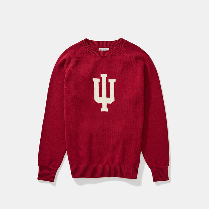Indiana Letter Sweater (Crimson)
