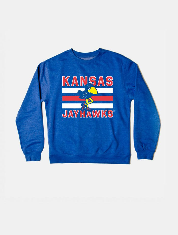 Kansas Vintage Triple Stripe Crewneck Sweatshirt