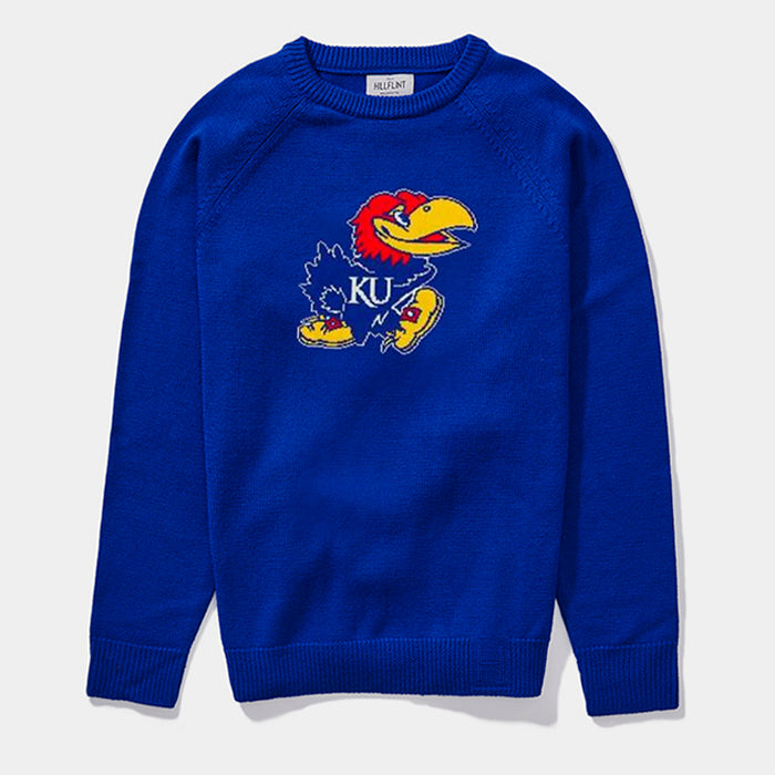 Kansas Crewneck Mascot Sweater