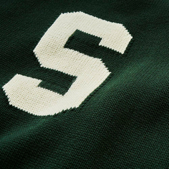 Merino Michigan State Letter Sweater