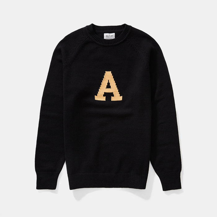Merino Army Letter Sweater