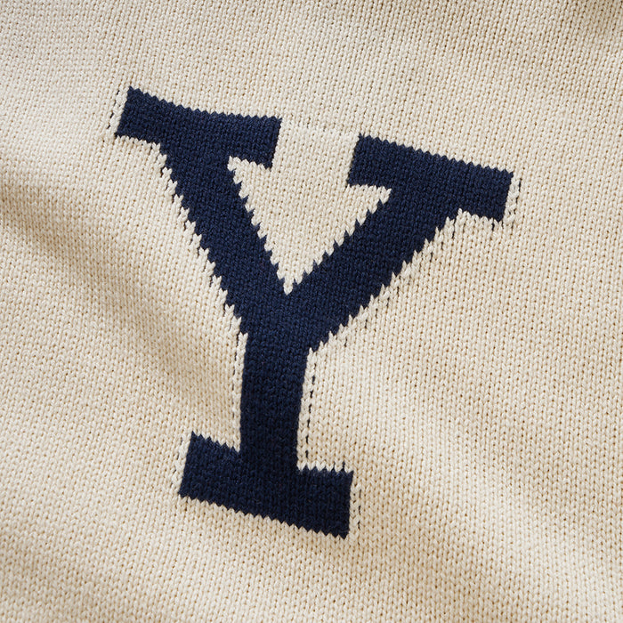 Merino Yale Letter Sweater (Crème)