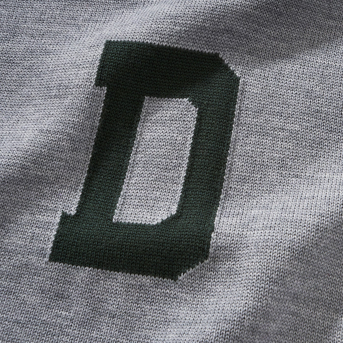 Merino Dartmouth Letter Sweater (Gray)