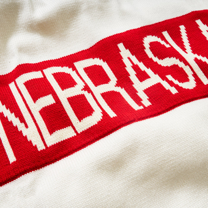 Women's Nebraska Retro Stripe Sweater